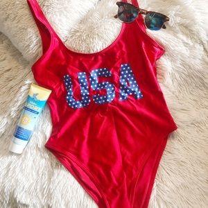 USA one piece swimsuit